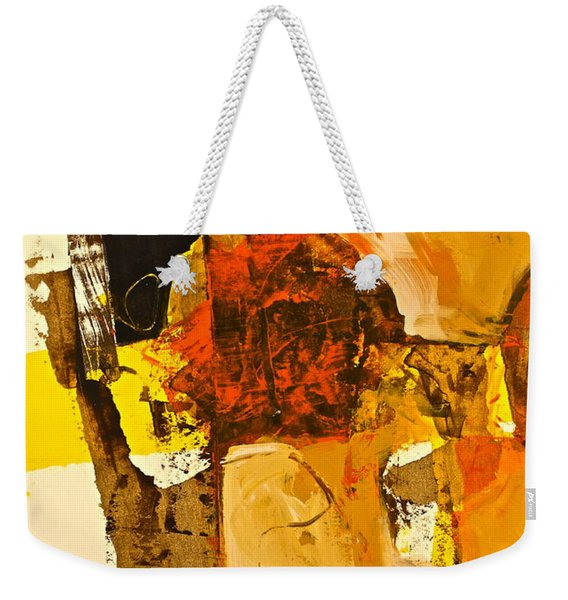 Weekender Tote Bag featuring the painting Mural Study 101246-61601 by Cliff Spohn