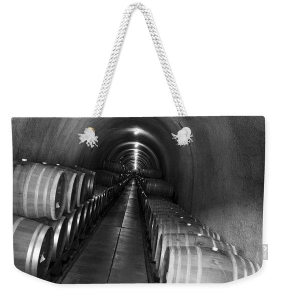 Napa Wine Barrels In Cellar Weekender Tote Bag