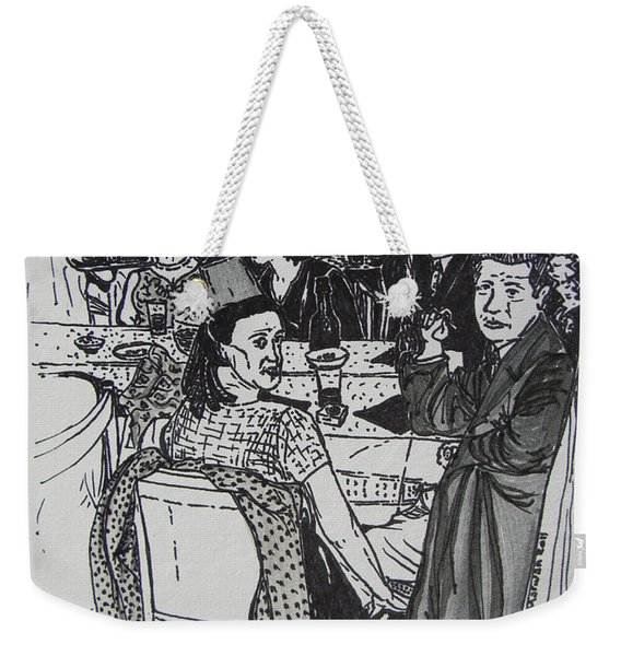 New Year's Eve 1950's Weekender Tote Bag