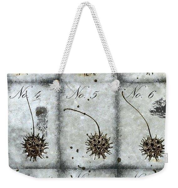 Nine Seed Pods Weekender Tote Bag