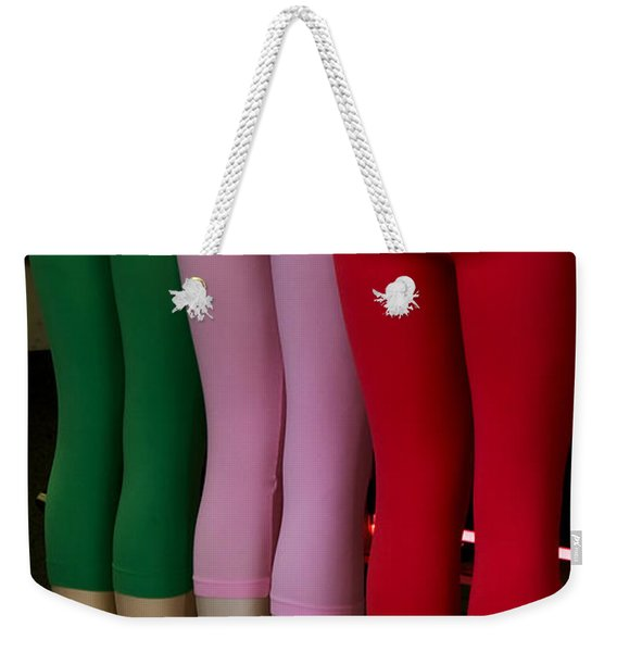 Weekender Tote Bag featuring the photograph No Ifs Ands Or Butts by Lorraine Devon Wilke