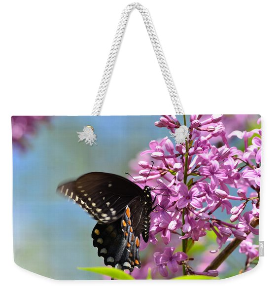 Nothing Says Spring Like Butterflies And Lilacs Weekender Tote Bag