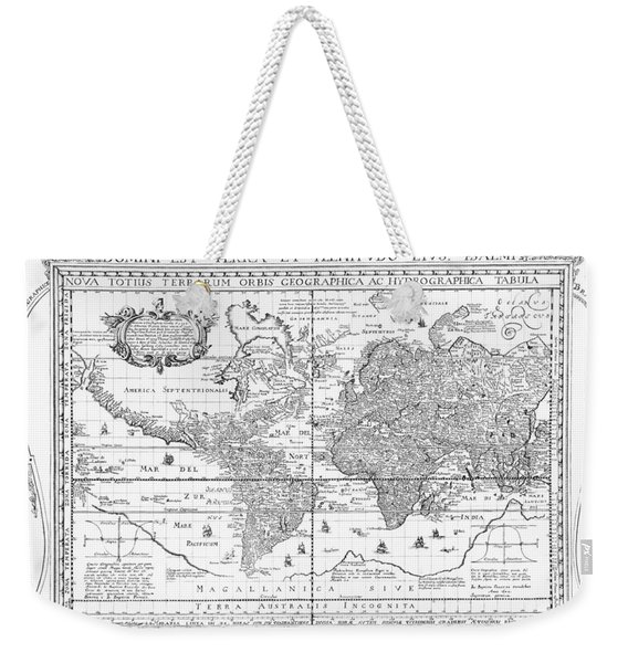 Nova Totius Terrarum Orbis Geographica Ac Hydrographica Tabula Weekender Tote Bag