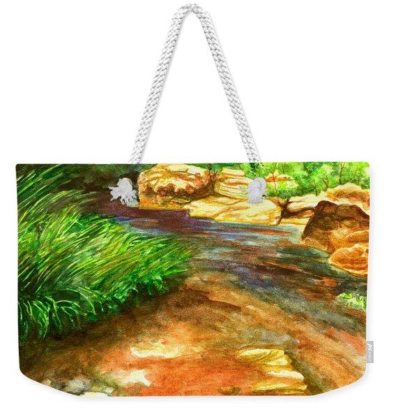 Oak Creek Red Weekender Tote Bag