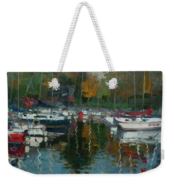 Oakville Harbour On Weekender Tote Bag