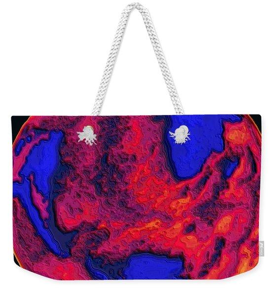 Oceans Of Fire Weekender Tote Bag