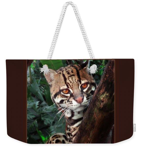 Ocelot Lookout Weekender Tote Bag