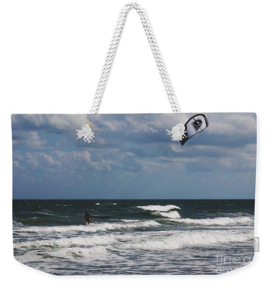 October Beach Kite Surfer Weekender Tote Bag