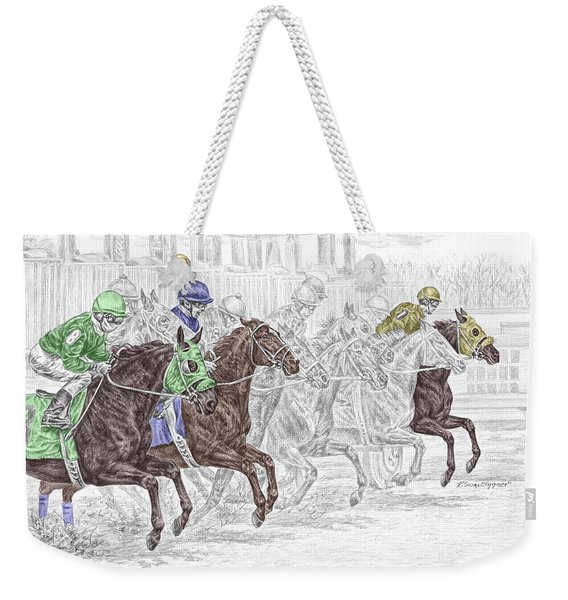 Odds Are - Tb Horse Racing Print Color Tinted Weekender Tote Bag