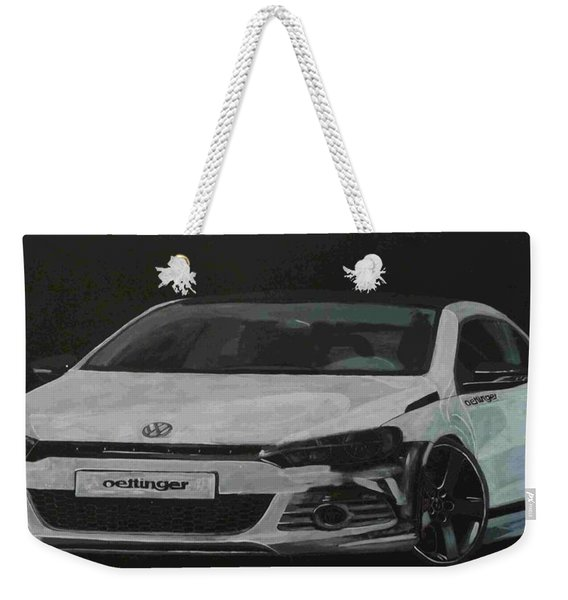 Weekender Tote Bag featuring the painting Oettinger Vw Scirocco  by Richard Le Page
