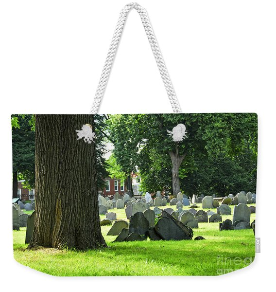Old Cemetery In Boston Weekender Tote Bag