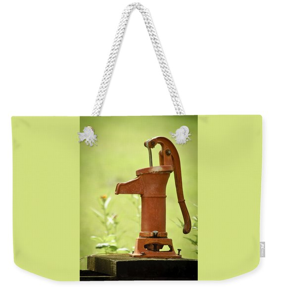 Weekender Tote Bag featuring the photograph Old Fashioned Water Pump by Carolyn Marshall