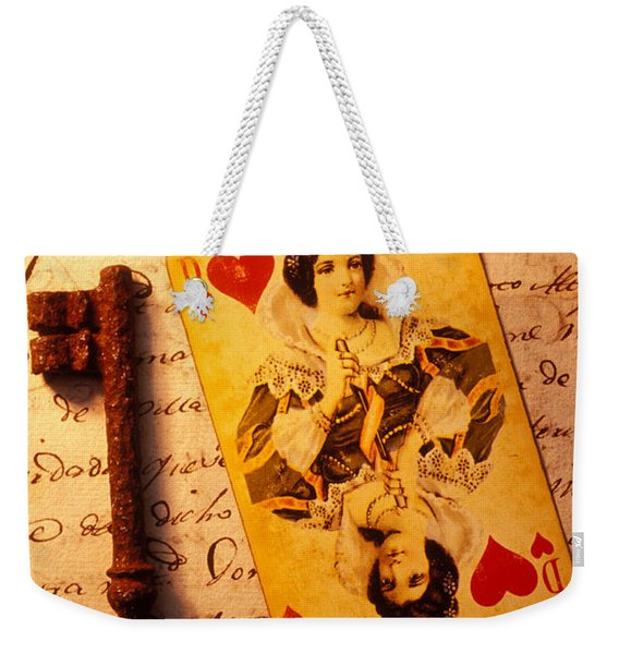 Old Playing Card And Key Weekender Tote Bag