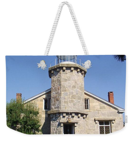 Old Stonington Lighthouse Weekender Tote Bag