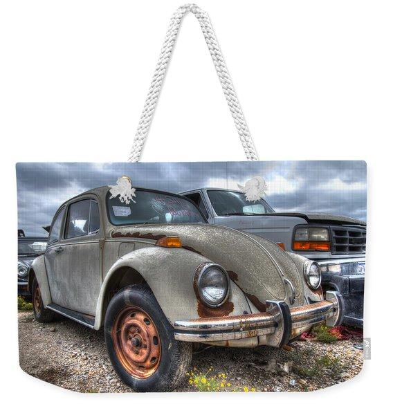 Old Vw Beetle Weekender Tote Bag
