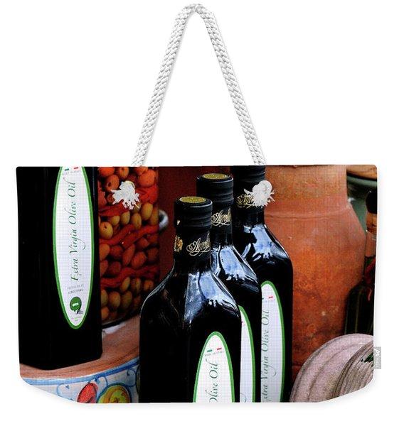 Olives And Olive Oil Weekender Tote Bag