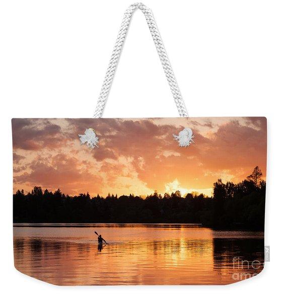 On The Lake Weekender Tote Bag