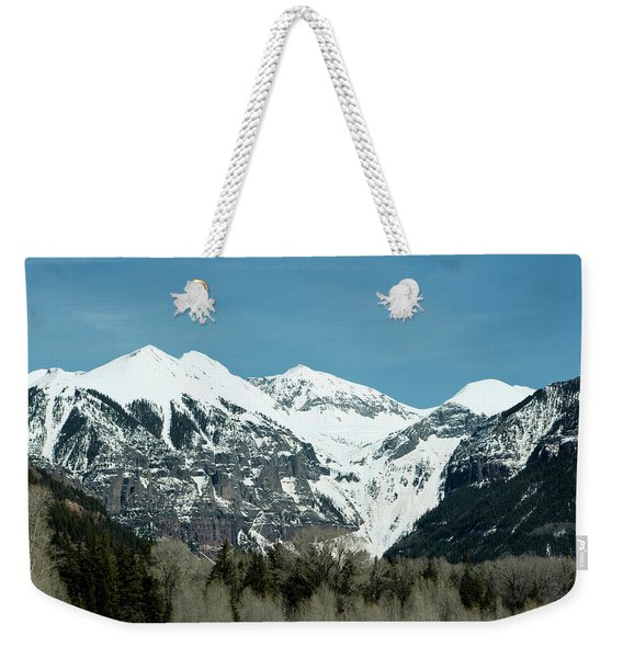 Weekender Tote Bag featuring the photograph On The Road To Telluride by Lorraine Devon Wilke