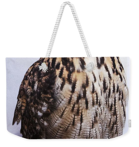 Orange Owl Eyes Weekender Tote Bag