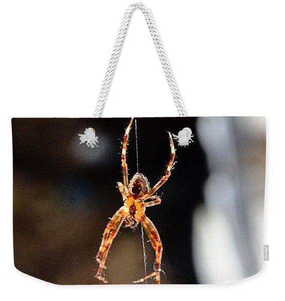 Orange Spider Weekender Tote Bag