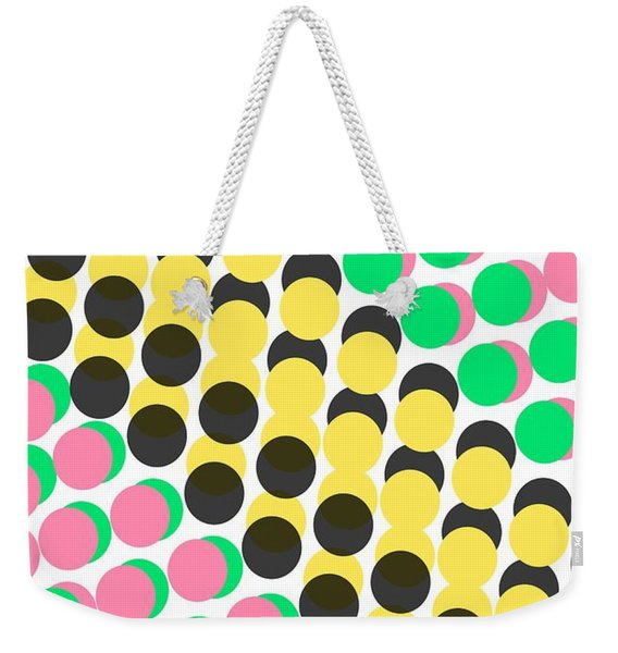 Overlayed Dots Weekender Tote Bag