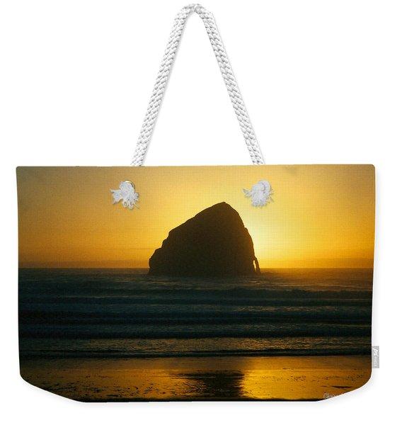 Pacific City Sunset Weekender Tote Bag