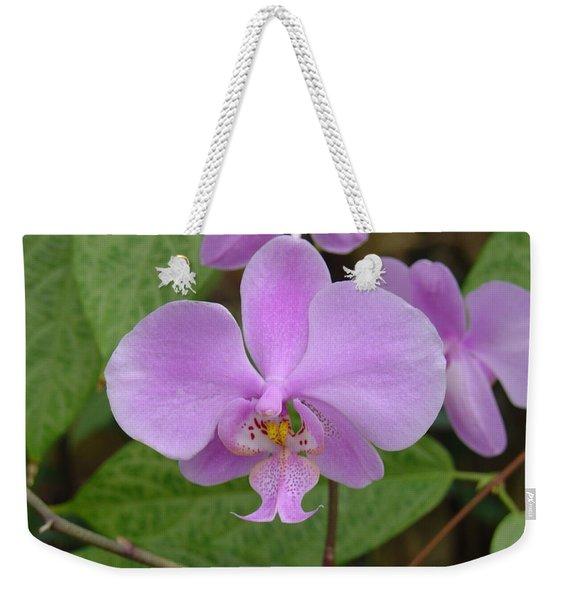 Pale Pink Orchid Weekender Tote Bag