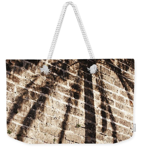 Palm Shadow Weekender Tote Bag