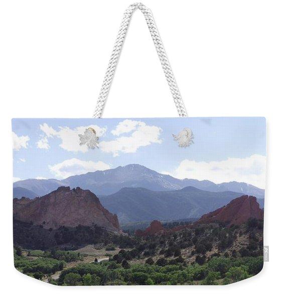 Panoramic Garden Of The Gods Weekender Tote Bag