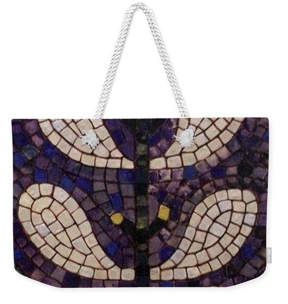 Weekender Tote Bag featuring the painting Patterns Of The Past by Cynthia Amaral