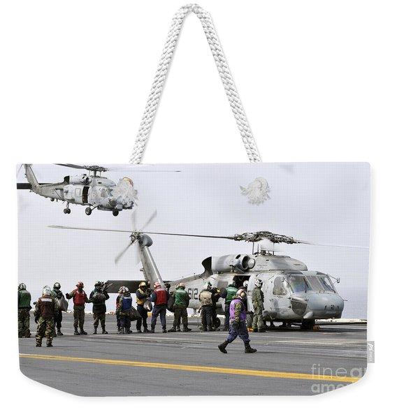 Personnel Load Humanitarian Supplies Weekender Tote Bag
