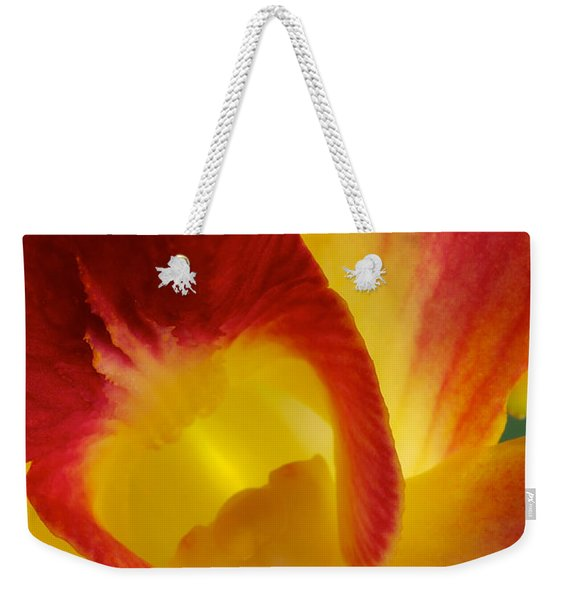 Photograph Of A Hope Orchid Flower Weekender Tote Bag