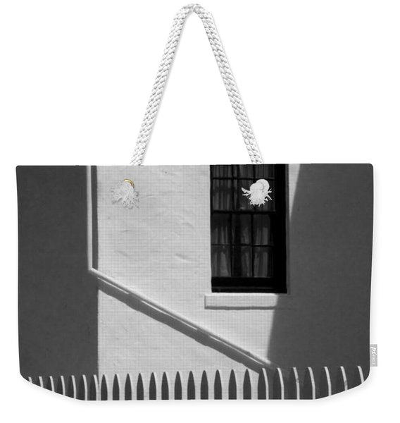 Picket Fence Next To The Lighthouse At Cabrillo National Monument Weekender Tote Bag