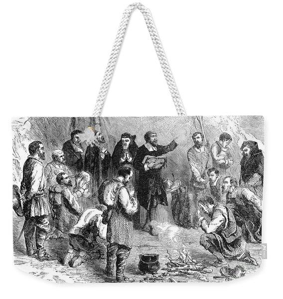 Pilgrim Sabbath Service Weekender Tote Bag