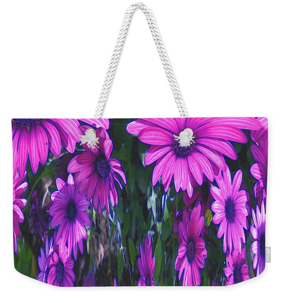 Pink Flower Power Weekender Tote Bag
