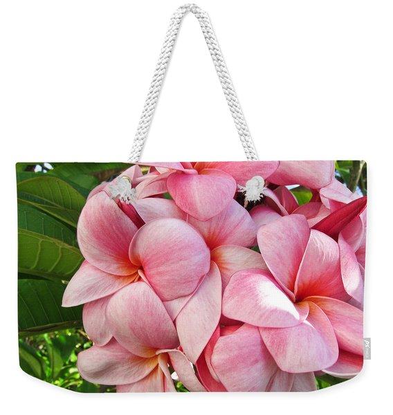 Pink Plumerias Weekender Tote Bag