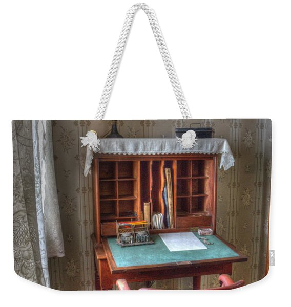 Point Loma Lighthouse Writing Desk Weekender Tote Bag