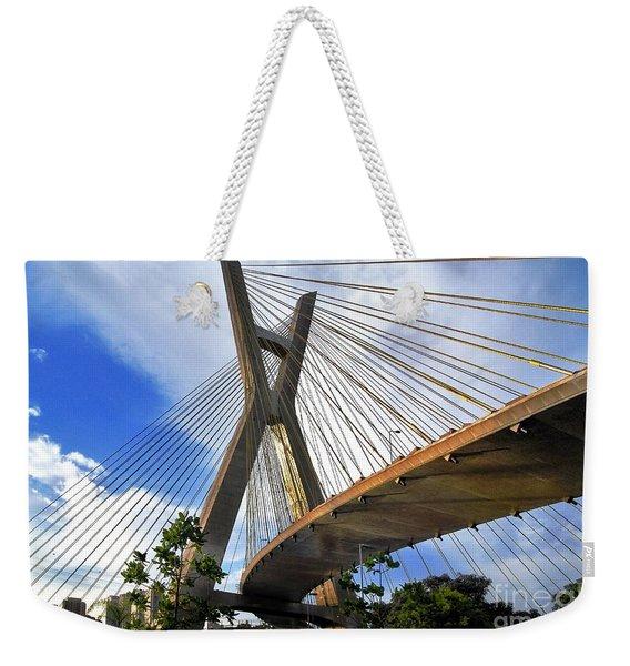 Ponte Estaiada Octavio Frias De Oliveira Ao Cair Da Tarde Weekender Tote Bag