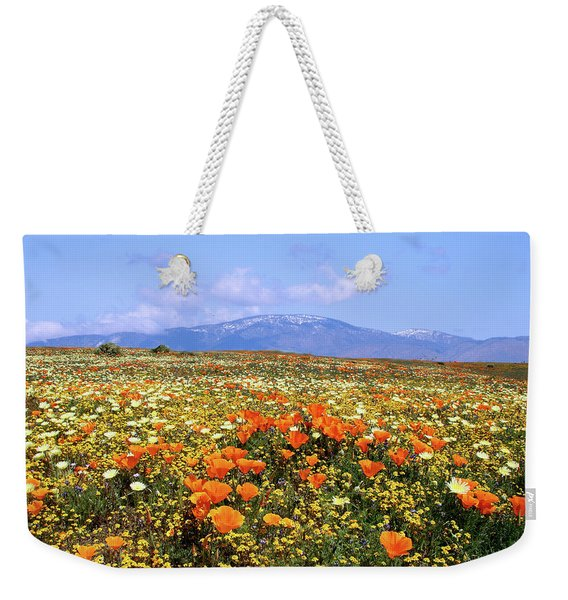 Poppies Over The Mountain Weekender Tote Bag