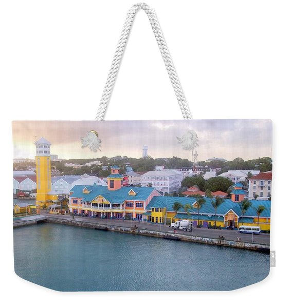 Weekender Tote Bag featuring the photograph Port Of Call by Cynthia Amaral