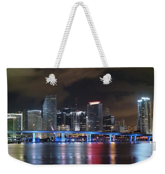 Port Of Miami Downtown Weekender Tote Bag