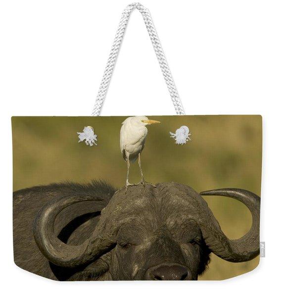 Portrait Of A Cape Buffalo Weekender Tote Bag