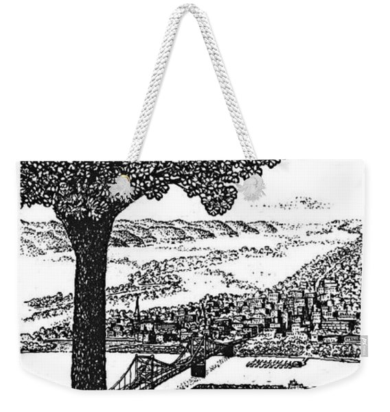 Portsmouth Ohio From A Kentucky Hill Weekender Tote Bag