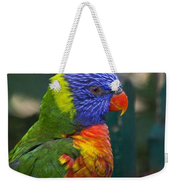 Posing Rainbow Lorikeet. Weekender Tote Bag