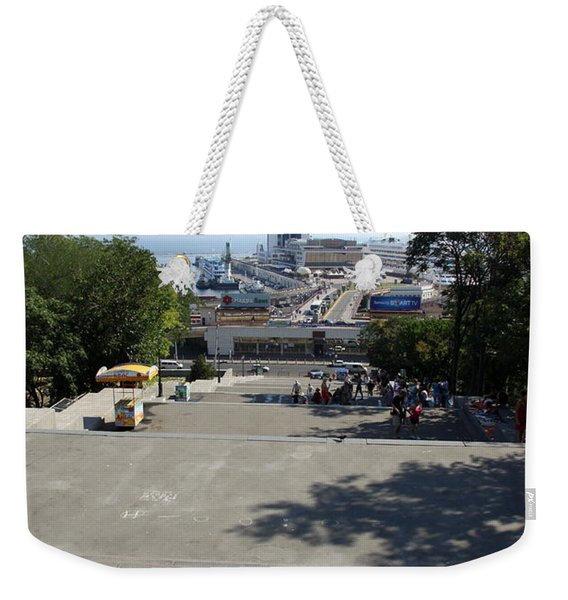 Potemkin Stairs And Passenger Terminal - Odessa Weekender Tote Bag