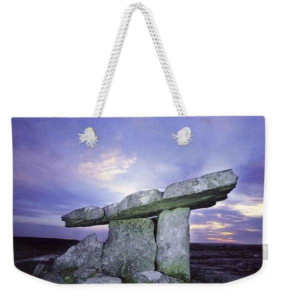 Poulnabrone Dolmen, The Burren, Co Weekender Tote Bag