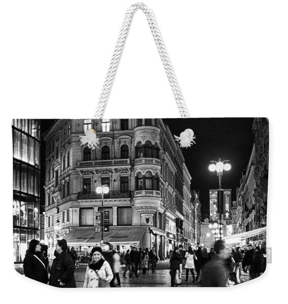 Prague At Night Weekender Tote Bag