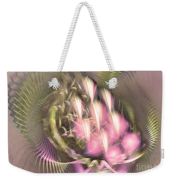 Pretty Lady Of Flowerbed - Abstract Art  Weekender Tote Bag