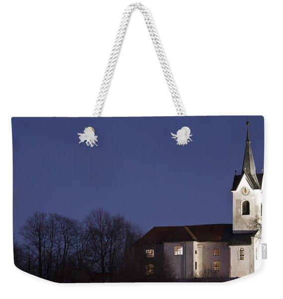 Prezganje Church At Dusk Weekender Tote Bag