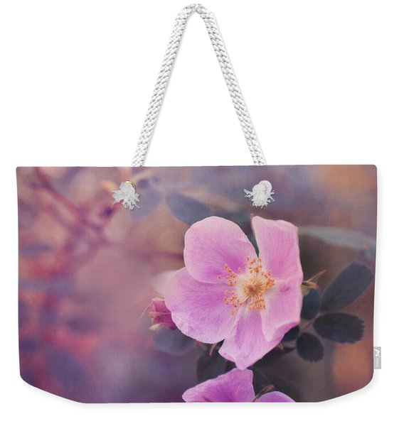 Prickly Rose Weekender Tote Bag